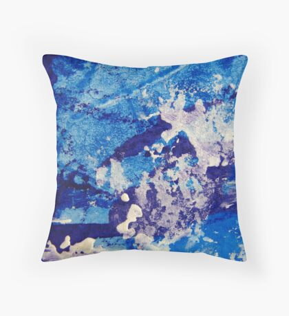 Crescendo in Blue Throw Pillow