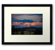 The storms a brewing! Framed Print