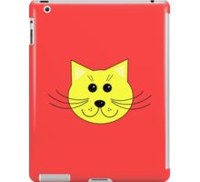 Cute Yellow Cartoon Cat iPad Case/Skin