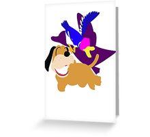 Super Smash Bros Duck Hunt Duo Greeting Card
