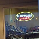 Neon Cigar Sign with Humidor by Bea Godbee