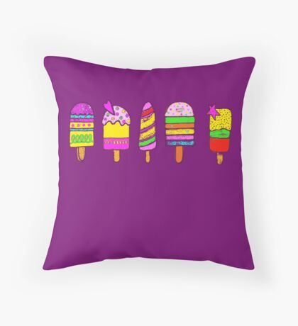 ice lollies (popsicles) Throw Pillow