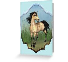 The Buckskin Horse Greeting Card
