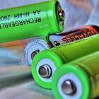 Flat batteries by David Hill