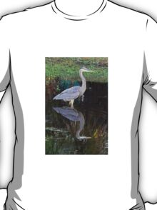 Blue Heron with Reflection T-Shirt