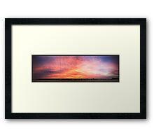 Sky Show Framed Print