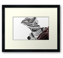 Robot Reptile Framed Print