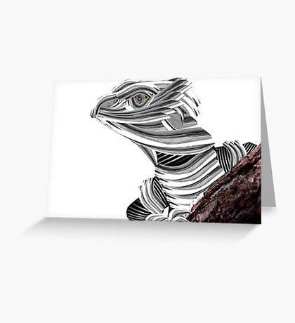 Robot Reptile Greeting Card