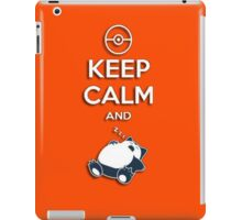 T-Shirt Keep Calm Snorlax iPad Case/Skin