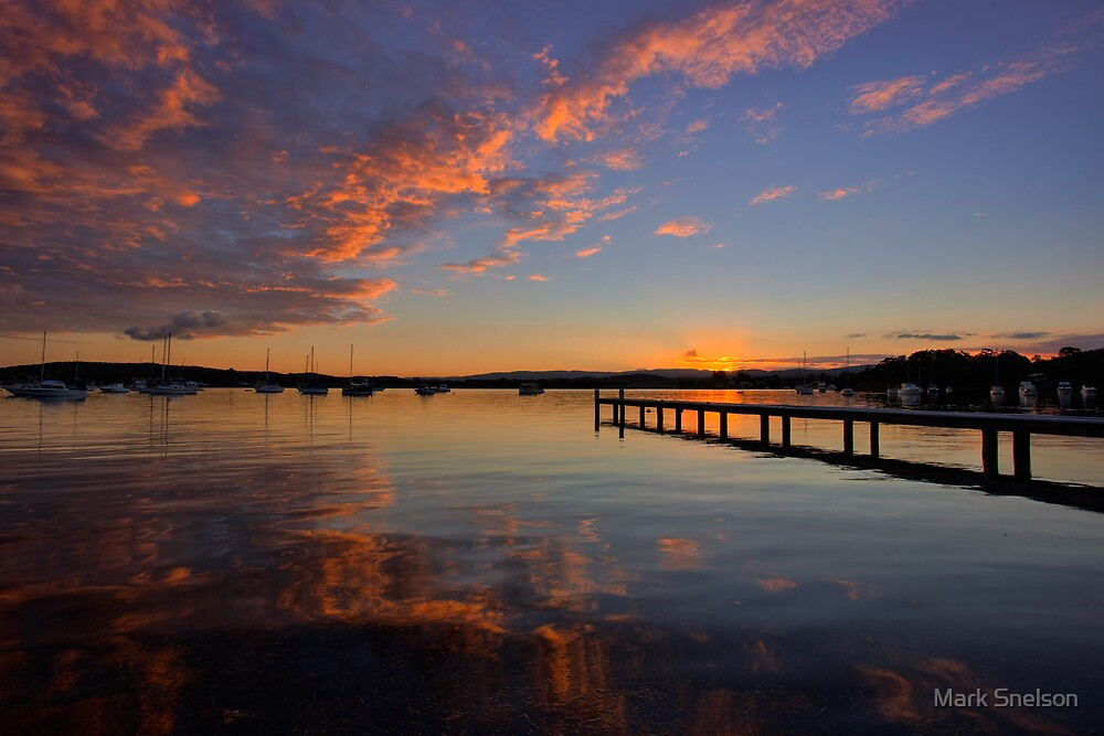 Bolton Point at Dusk by Mark Snelson
