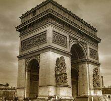 Paris - The Triump Arch by jean-louis bouzou