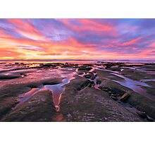 San Diego Sunset at Low Tide Photographic Print