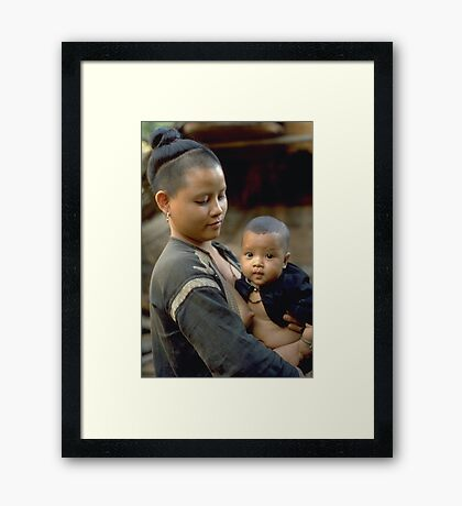 First born, a mother's love Framed Print