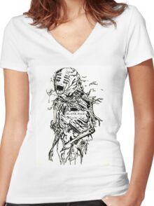 garbage and rocks Women's Fitted V-Neck T-Shirt