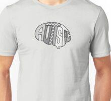 Autistic Brain (greyscale) Unisex T-Shirt