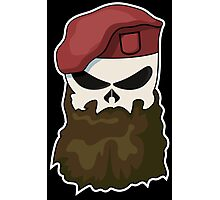 Tactical Bearded Skull Photographic Print