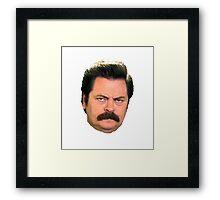 Ron Swanson (floating head) Framed Print