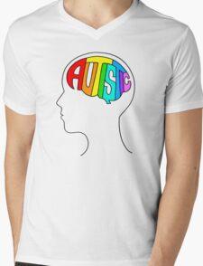 Autistic Mind Mens V-Neck T-Shirt
