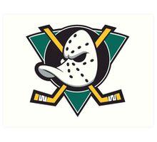 Anaheim Ducks Old Logo Art Print