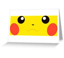 Pikachu Face Greeting Card