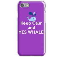 Yes Whale iPhone Case/Skin