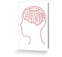 Autistic Mind  – Red Greeting Card