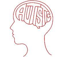 Autistic Mind  – Red Photographic Print