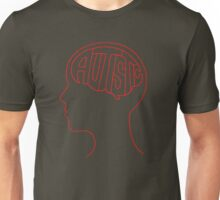 Autistic Mind  – Red Unisex T-Shirt