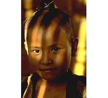 Lahu girl in filtered afternoon light Photographic Print