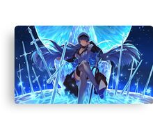 Akame ga Kill, Red Eyes Sword - Esdeath, Ice Master! Canvas Print