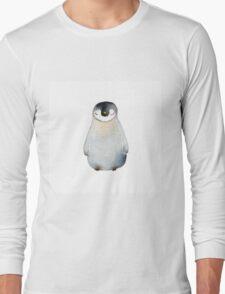 Cute animal No.2 Shy Penguin Long Sleeve T-Shirt