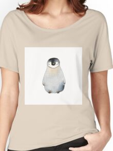 Cute animal No.2 Shy Penguin Women's Relaxed Fit T-Shirt