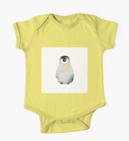 Cute animal No.2 Shy Penguin One Piece - Short Sleeve
