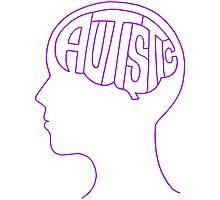 Autistic Mind – Purple Photographic Print