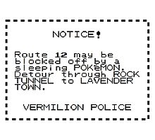 Route 12 Warning by Sciencemancer