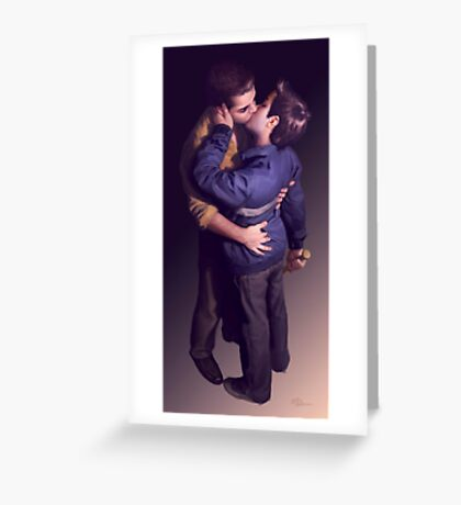 Tough (Just The Kiss) Greeting Card
