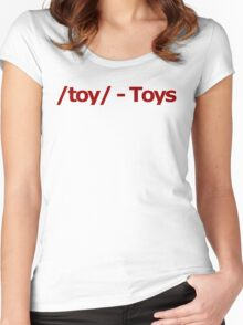 /toy/ - Toys 4chan Logo Women's Fitted Scoop T-Shirt