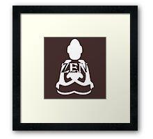 zen white Framed Print