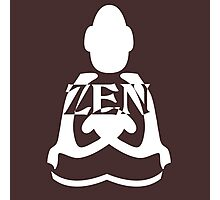 zen white Photographic Print