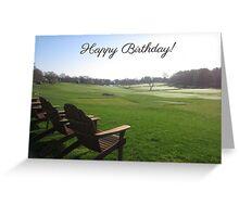 Fairway Observers (Birthday) Greeting Card