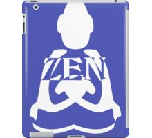 zen white iPad Case/Skin