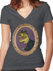 Terry the Tyrannosaurus Rex Women's Fitted V-Neck T-Shirt