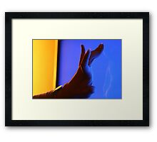 In touch with the cyberspace Framed Print