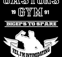 Gaston's Gym White by AllMadDesigns