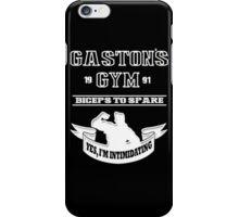 Gaston's Gym White iPhone Case/Skin