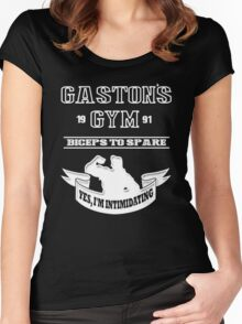 Gaston's Gym White Women's Fitted Scoop T-Shirt