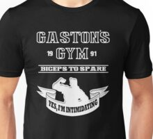 Gaston's Gym White Unisex T-Shirt