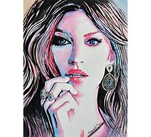 Gisele Bündchen in watercolor painting Photographic Print