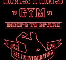 Gaston's Gym Red by AllMadDesigns
