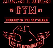 Gaston's Gym Red by AllMadDesigns